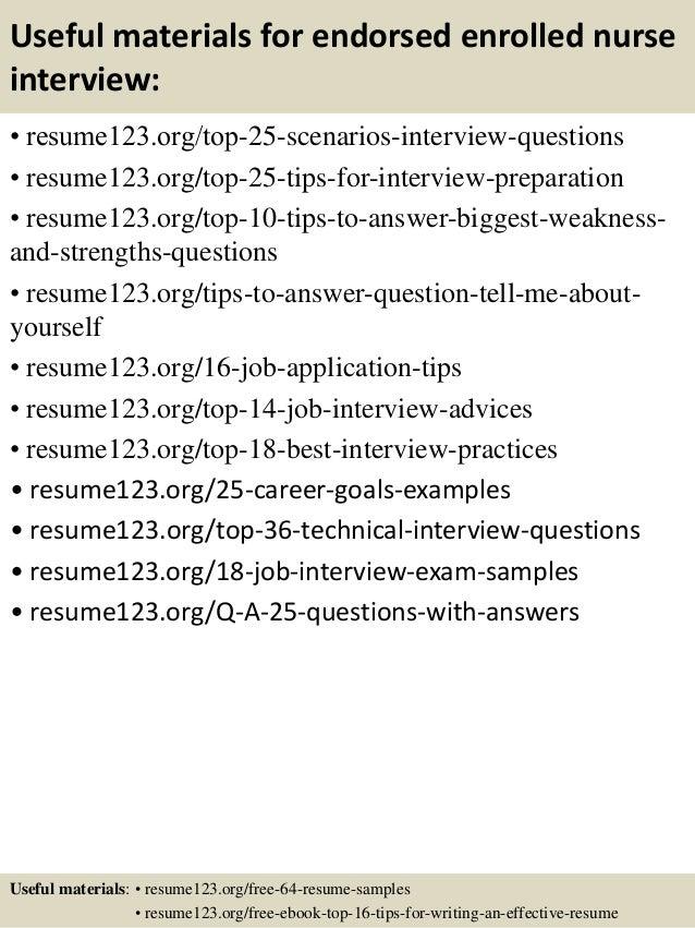 top 8 endorsed enrolled nurse resume samples