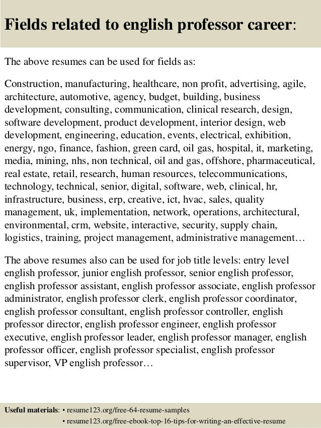 Writing A College Adjunct Professor Resume Or CV Curriculum Vitae English Professor  Resume Lecturer Adjunct Faculty  Adjunct Professor Resume