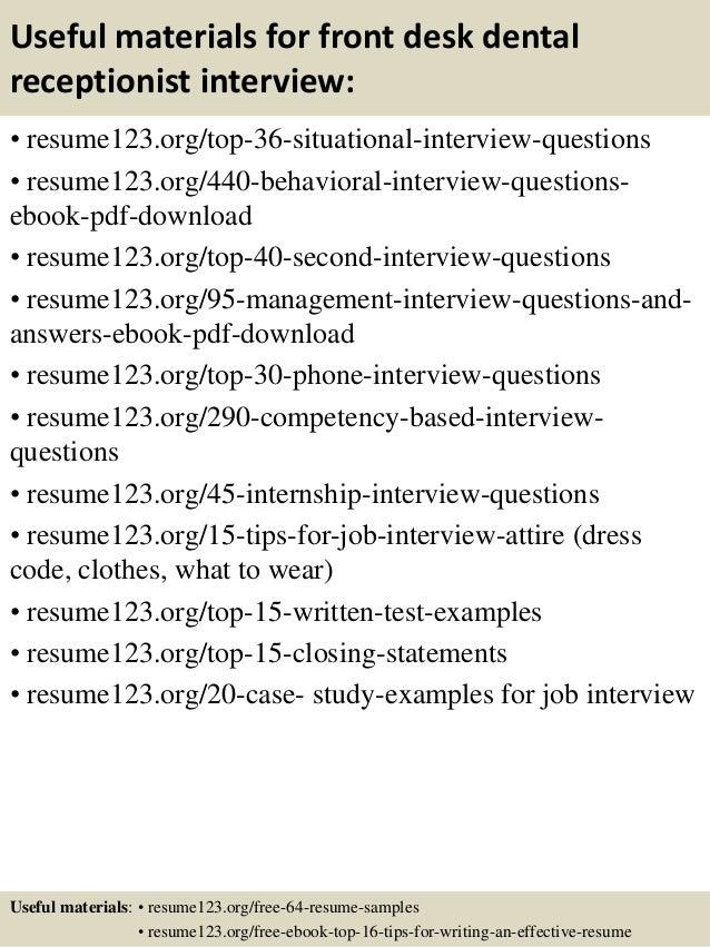 top  front desk dental receptionist resume samples       useful materials for front desk dental receptionist
