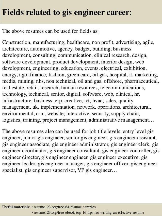 top  gis engineer resume samples