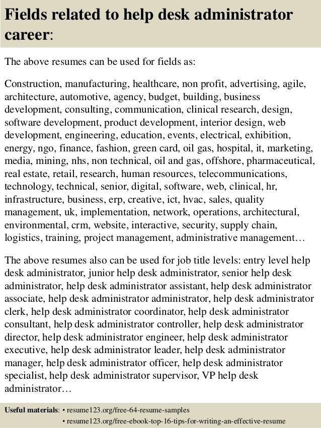 Help Desk Resume Sample Front Desk Resume Sample Front Sample Free Sample  Resume Cover  Help Desk Resume