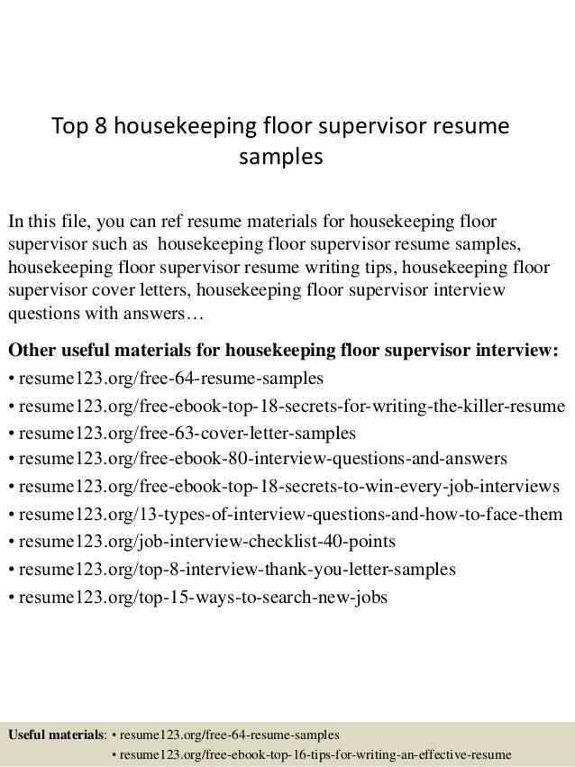 Site Supervisor Resume Samples