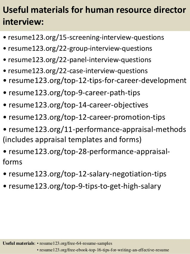 top human resource director resume samples useful materials for human resource