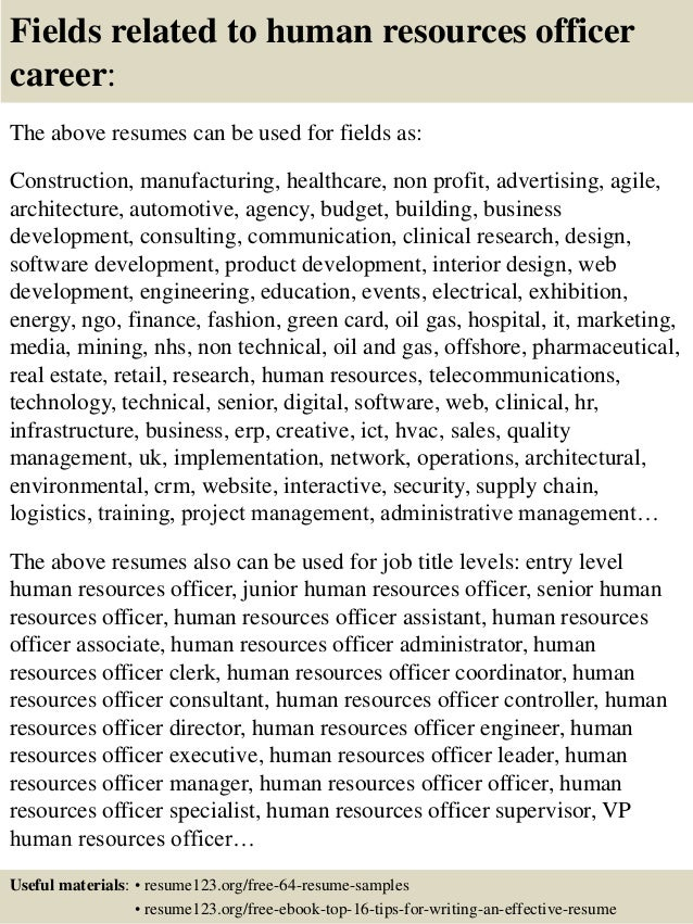 human resources resume objective examples resume objectives for