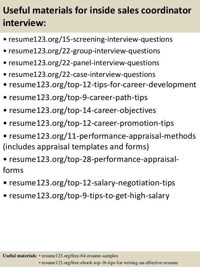 Top Inside Sales Coordinator Resume Samples Useful Materials For Inside S   Inside  Sales Resume