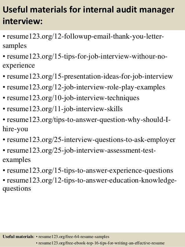 top  internal audit manager resume samples       useful materials for internal audit