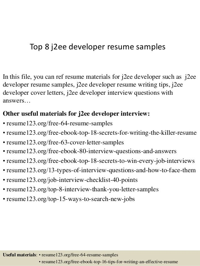 J2ee Resume Example,Resume Samples Java Jee Tech Lead Resume Java ...