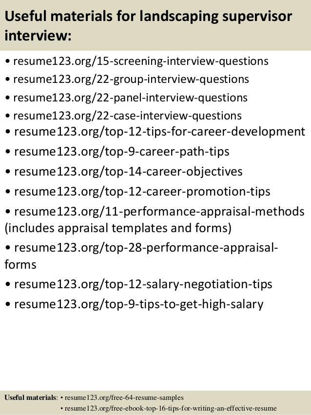 landscaping resume sample