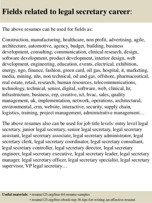 legal secretary essay