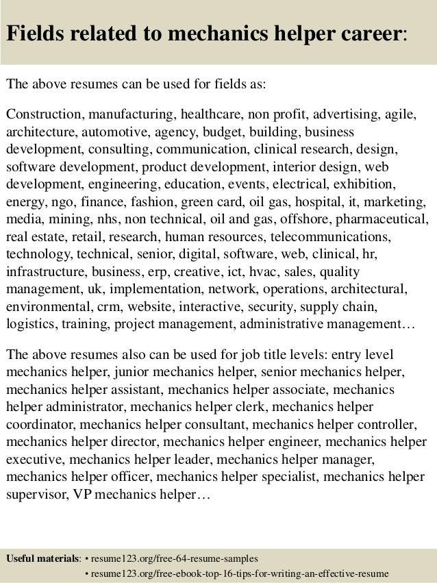 Construction Helper Resume 16