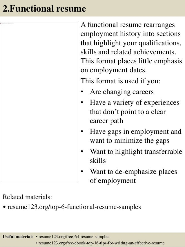functional resume a functional resume rearranges employment history ...