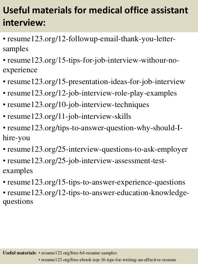 medical field resume examples