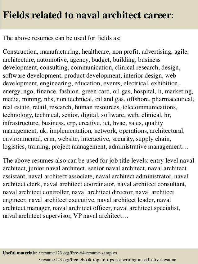 Top 8 naval architect resume samples