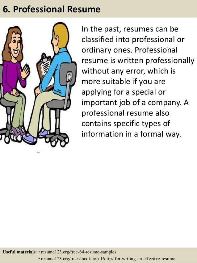 in the past resumes can be classified into professional or