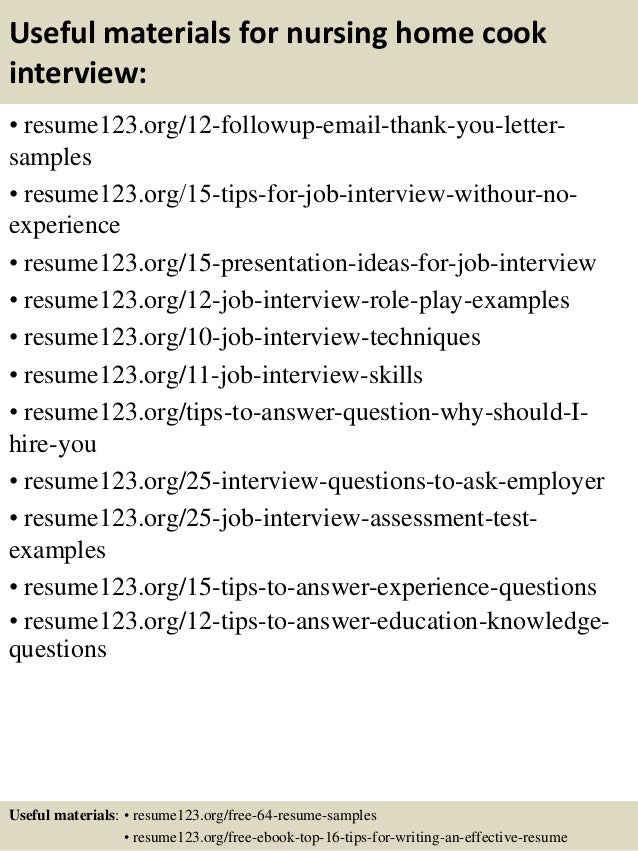 top  nursing home cook resume samples       useful materials for nursing home