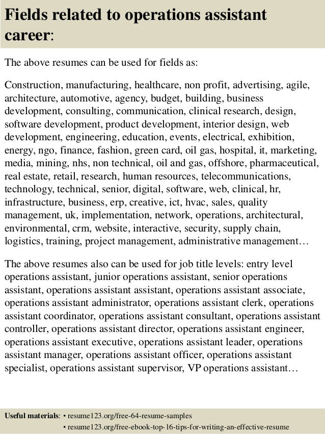 Administrative Assistant Cover Letter Example 16 Fields Related To Operations