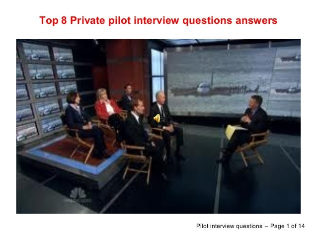 Top 8 private pilot interview questions answers