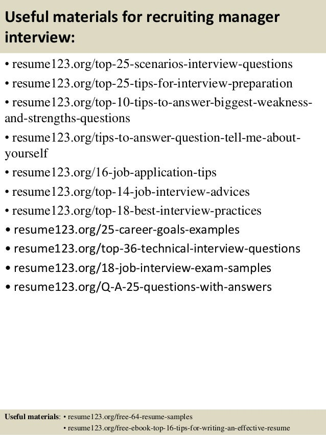 recruiting manager resume it recruiter resumes business strategy