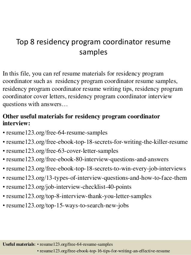 Program Coordinator Resume – Project Coordinator Resume