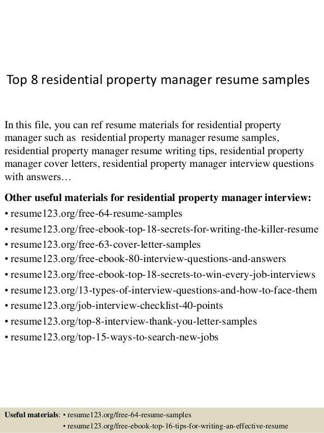 property management resume com property management resume to - Assistant Property Manager Job Description