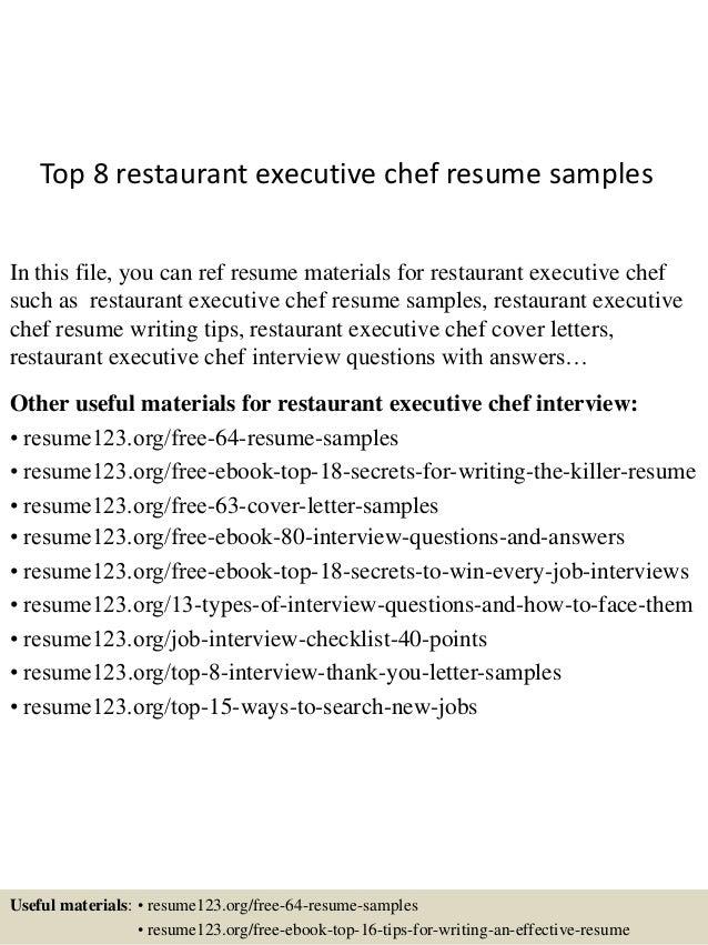 Private Chef Cover Letter