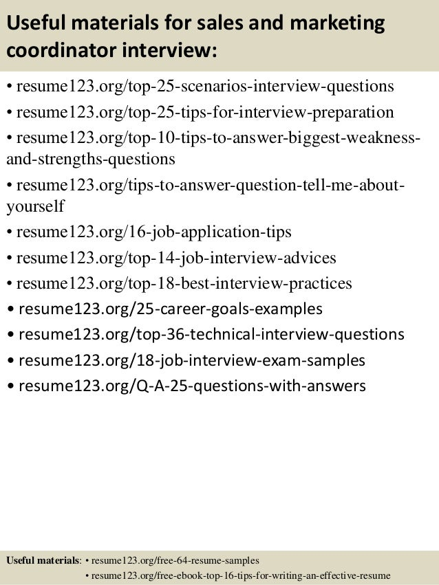Marketing Resume Objective Marketing Resume Sample Resume Genius Sales Coordinator  Resume Sales Coordinator Lewesmr JFC CZ  Administrative Coordinator Resume
