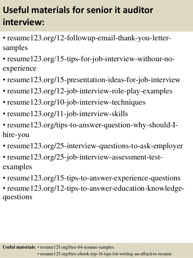 Senior Auditor Sample Resume Mr Resume It Auditor Resume Resume Senior  Internal Auditor Free Resume Resume  Auditor Resume Sample