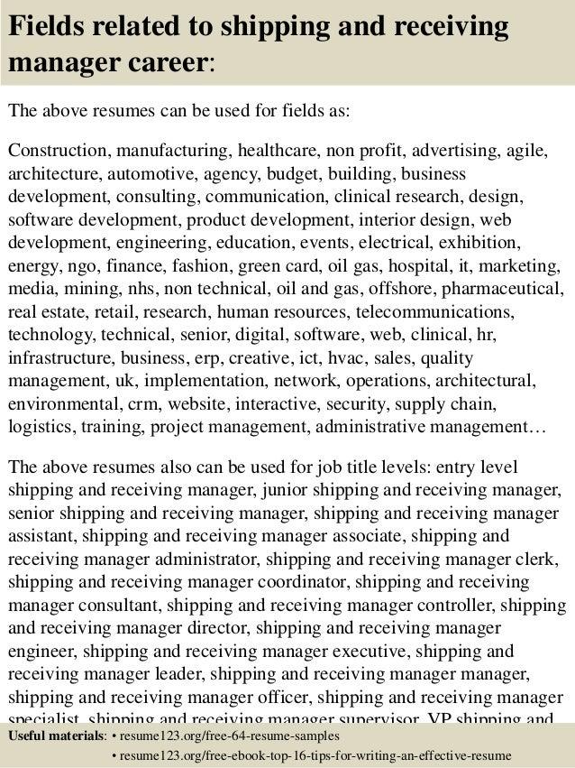 shipping and receiving job description
