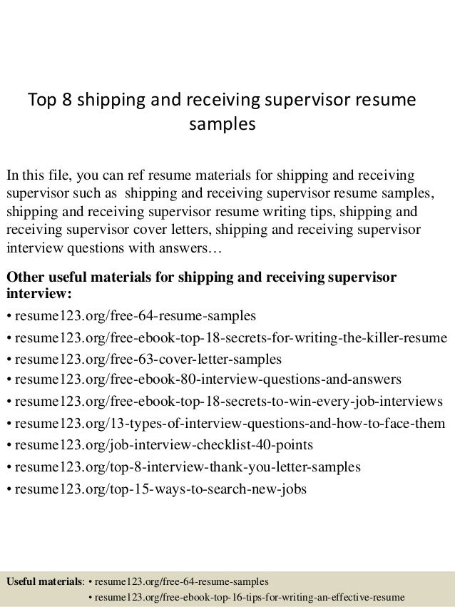warehouse shipping and receiving resume sle