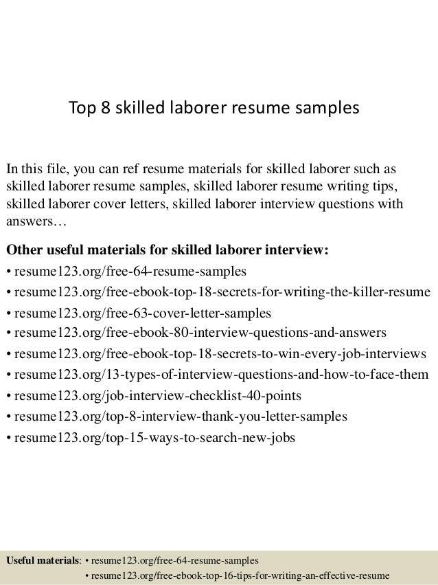 Resume General Labor   Cipanewsletter