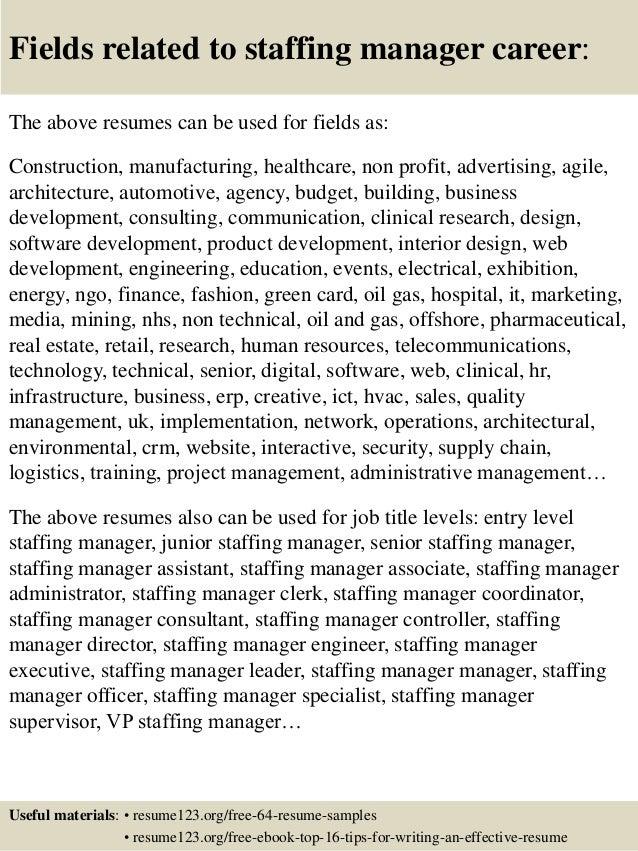 staffing resumes exolgbabogadosco - Staffing Coordinator Resume