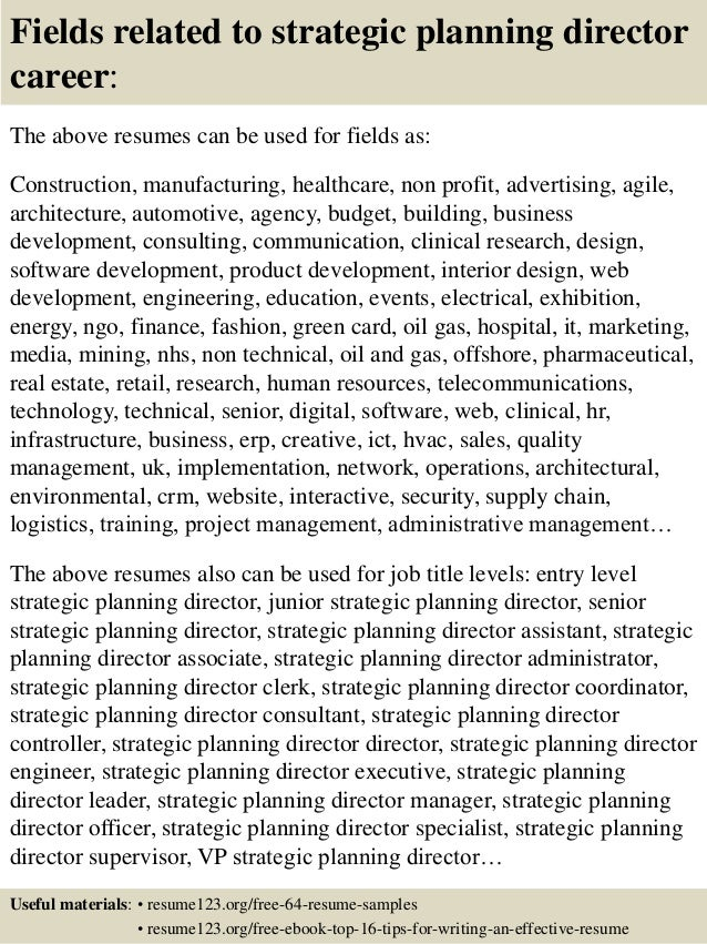 sample planner resume and tips best sample resumes