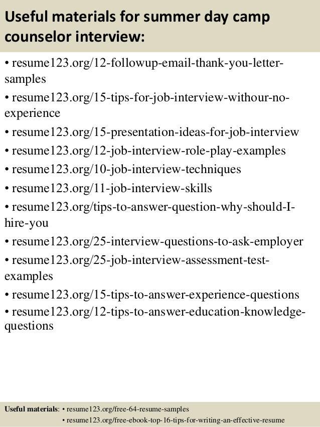 camp counselor resume templates