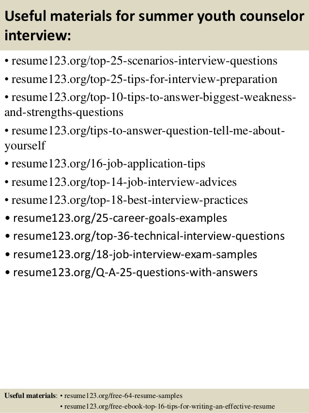 Youth Counselor Description