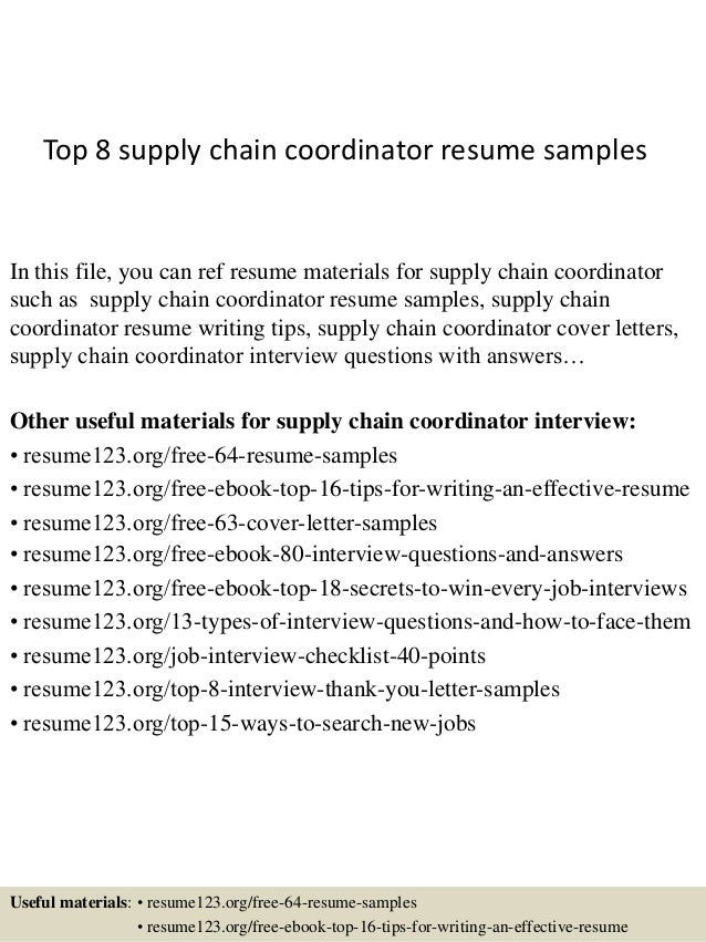 top  supply chain coordinator resume samplestop  supply chain coordinator resume samples in this file  you can ref resume materials