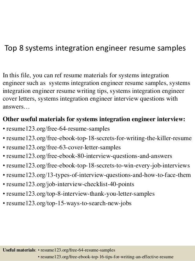 Elegant Integration Engineering Resume Exles