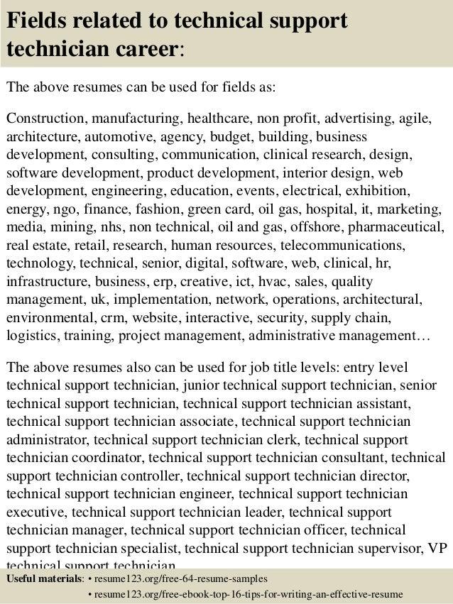 desktop support sample resumes