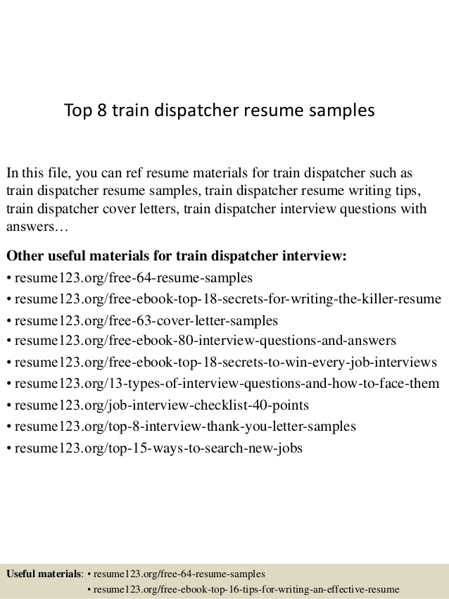 dispatcher resume objective