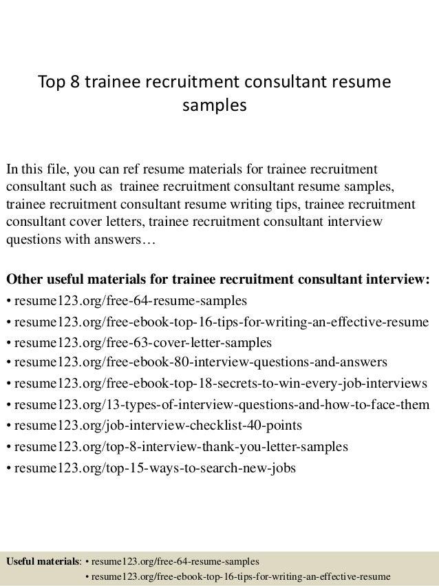 recruitment consultant cv sample visual web collaboration ...