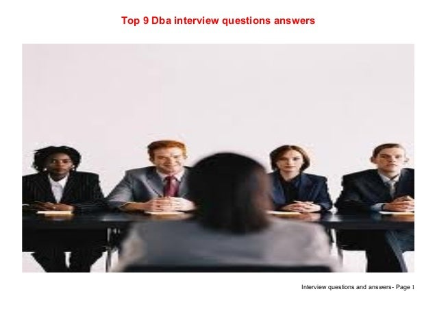 Top 9 dba interview questions answers