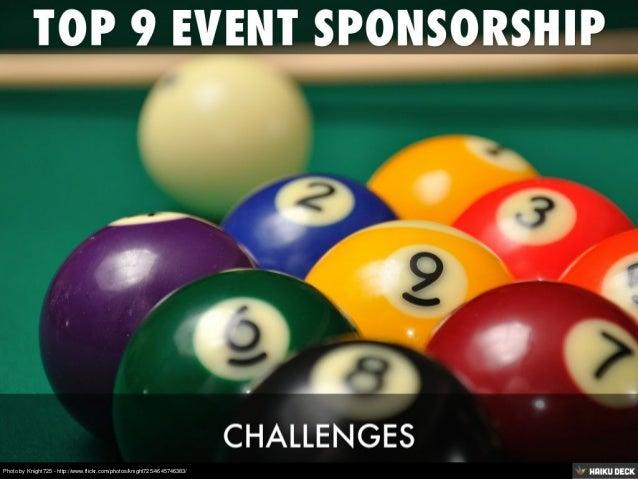 Top 9 Event Sponsorship Challenges
