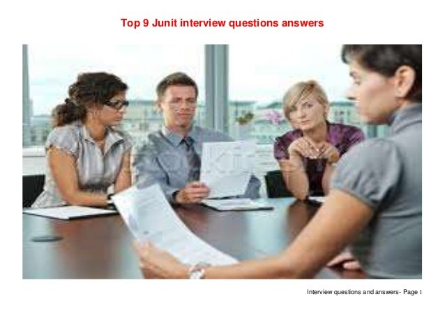 Top 9 junit interview questions answers