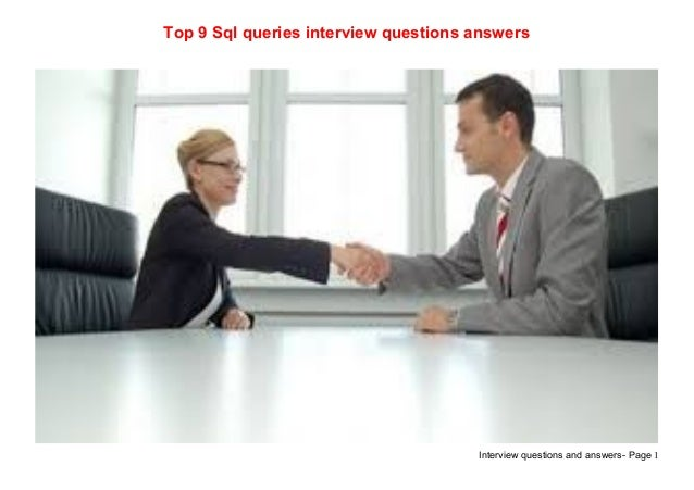 Top 9 sql queries interview questions answers