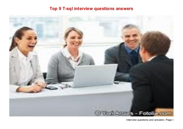 Top 9 t sql interview questions answers