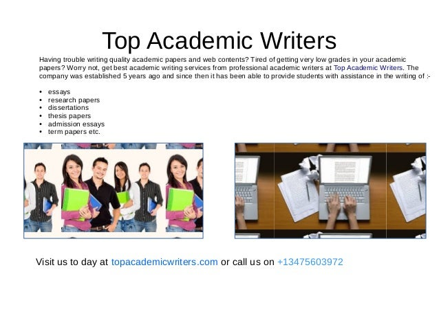 Academic writers