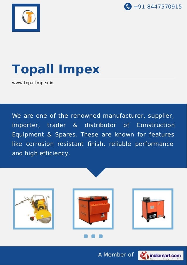 Steel Bar Cutting Machine by Topall impex