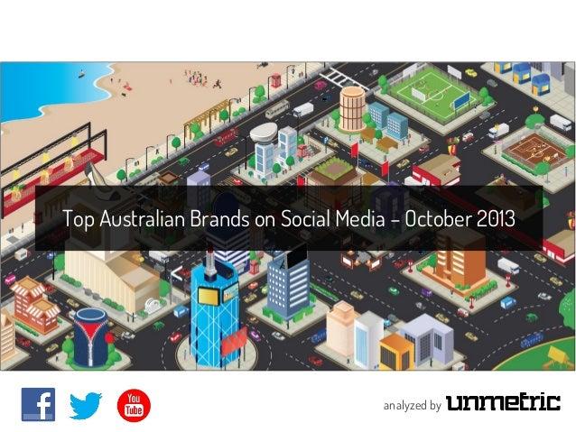 Top Australian Brands on Social Media - October 2013