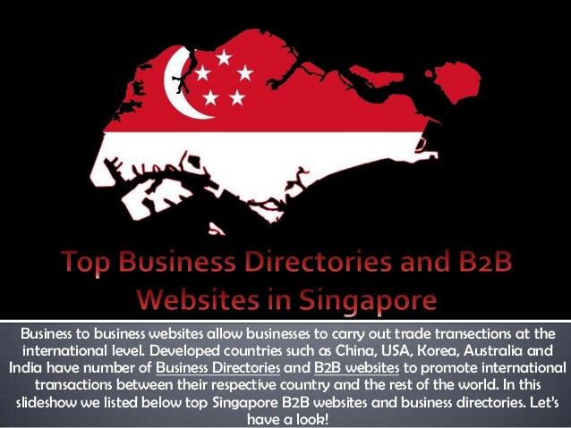 Top Business Directories And B2B Websites In Singapore