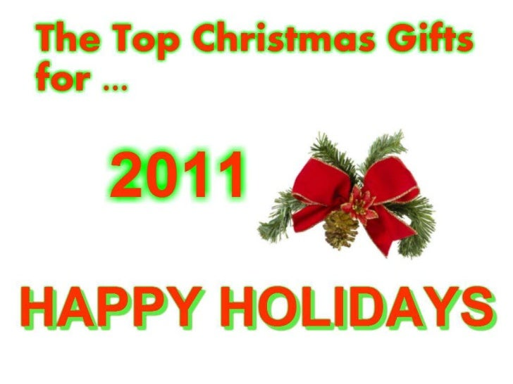 http://www.facebook.com/TopChristmasGifts2011