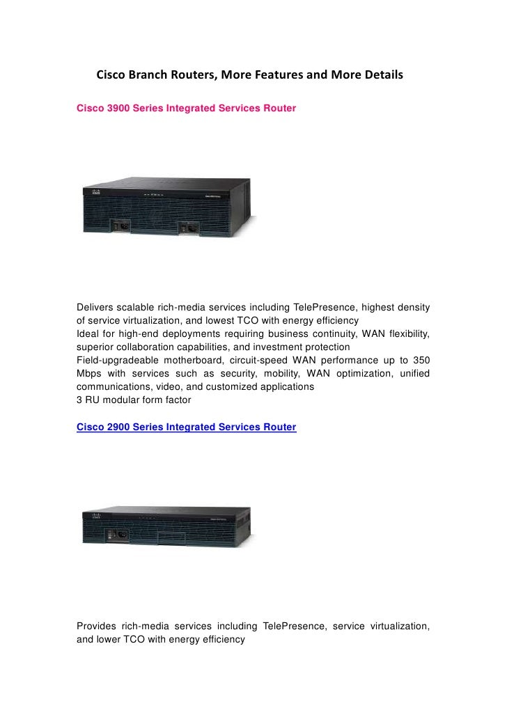 Top cisco branch routers